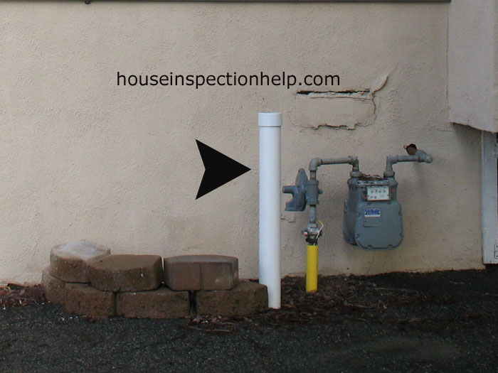 Gas Meter Protection Pipe