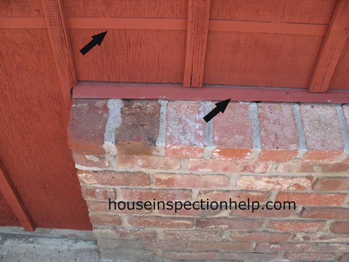 Brick And Plywood Siding Flashing