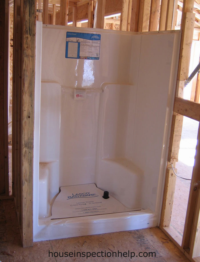 Fiberglass Shower Framing Stage