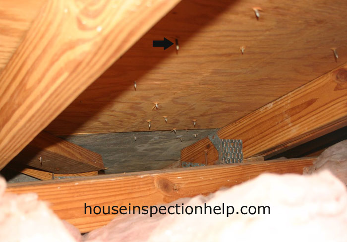 Roofing Nails In Attic