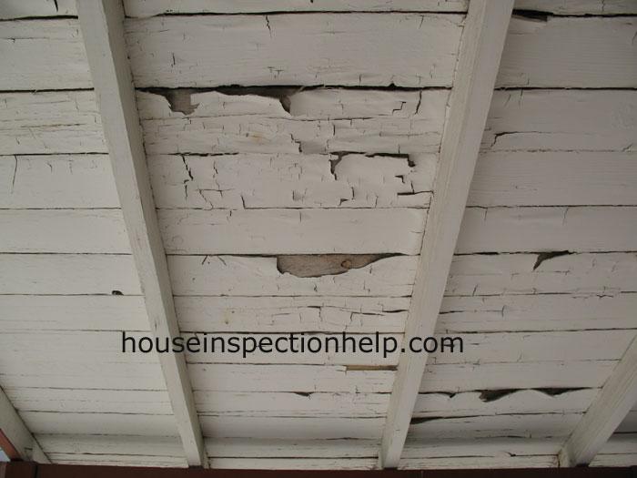 Paint Peeling Under Porch Roof