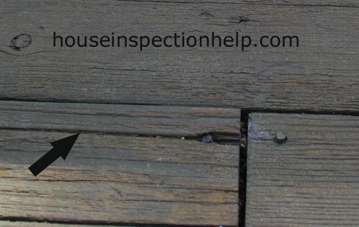 Wood Decking Crack At Nail