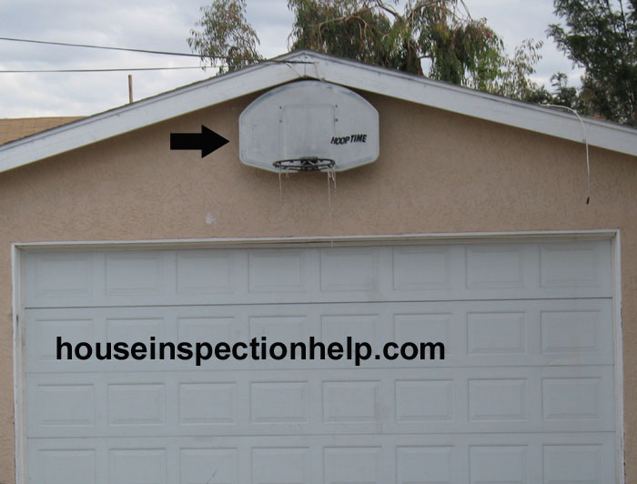 Basketball hoop on garage for Basketball garage