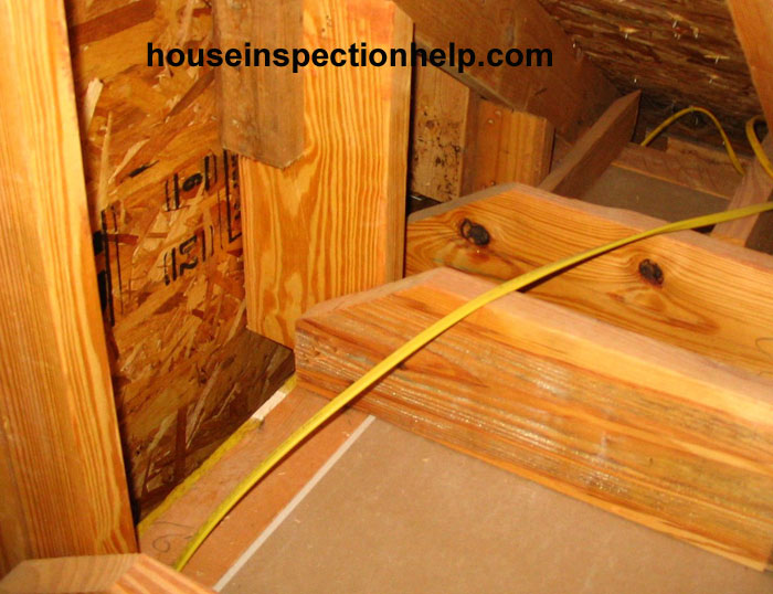 Ceiling Joist Edge Cut