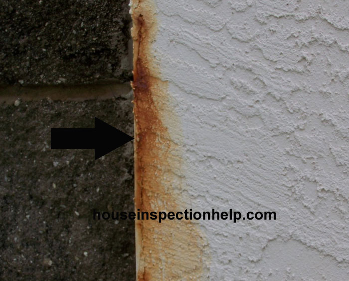 Rust Stain On Stucco