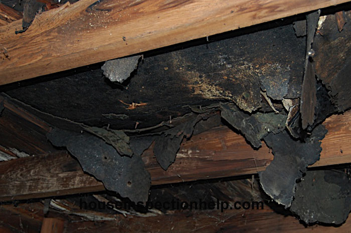 Severely Damaged Roof Sheathing