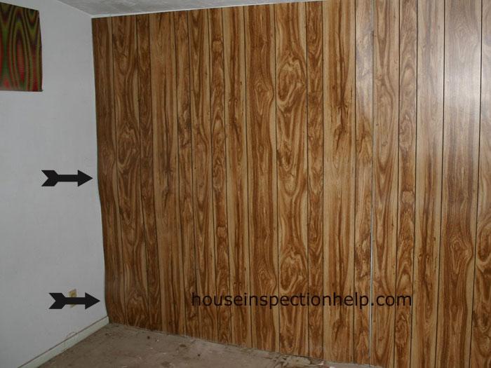 Buckling Wood Paneling