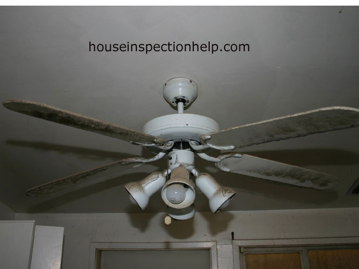 Dirty And Dusty Ceiling Fan