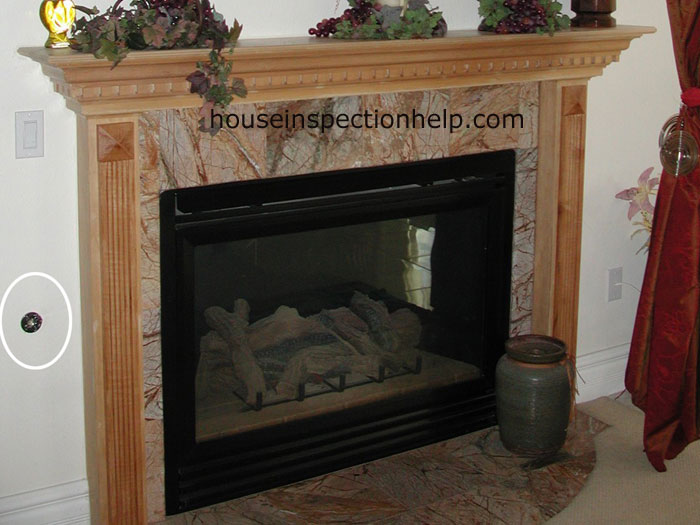 fireplace log lighter in drywall