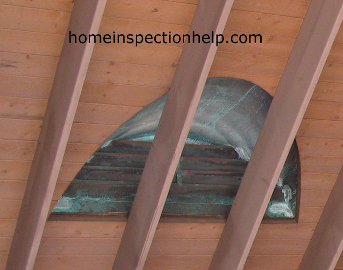 Large Copper Dormer Vent Back