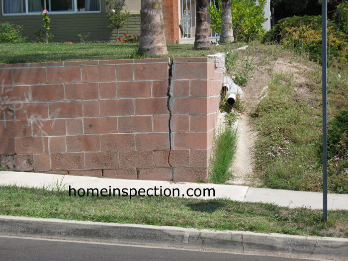 Large Crack In Retaining Wall