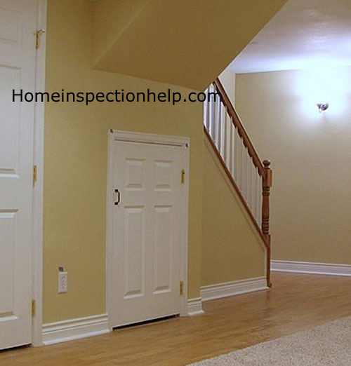 short door under stairs
