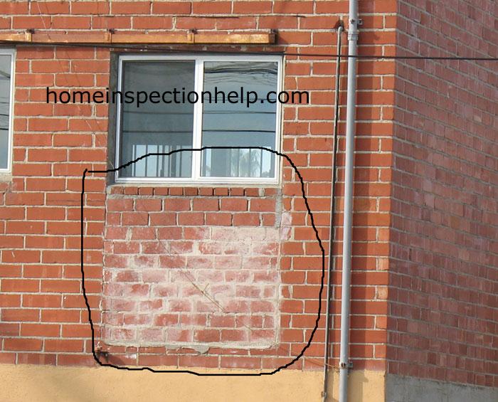 Brick Patch Under Window
