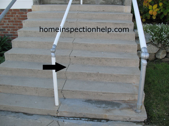Control Joint In Concrete Stairs