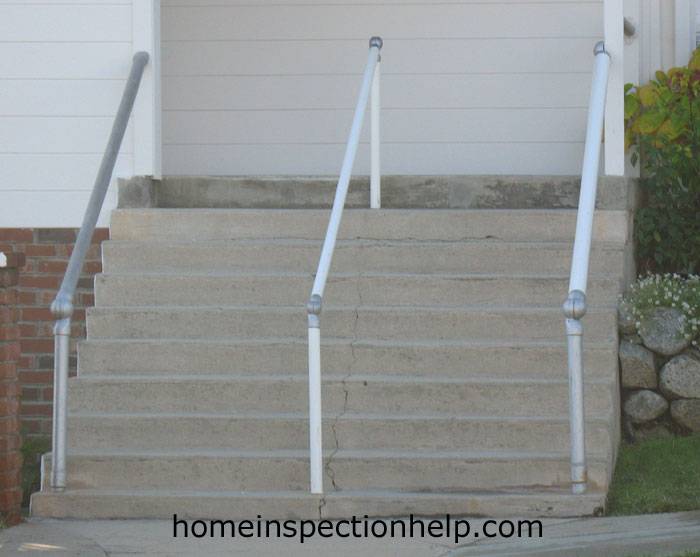 Stair Handrail No Guard Rail