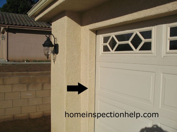 Stucco Garage Door Jamb