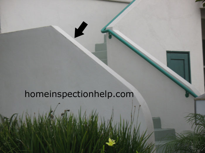 Stucco Stair Guardrail