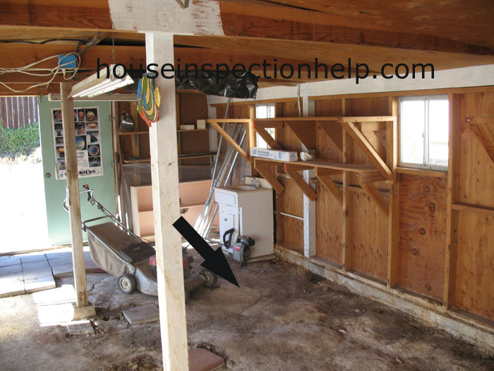 Dirt Floor Inside Shed