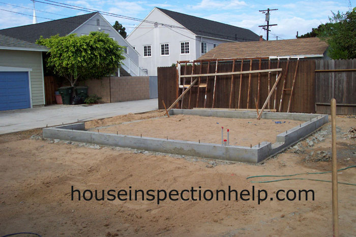 New Concrete Garage Footings