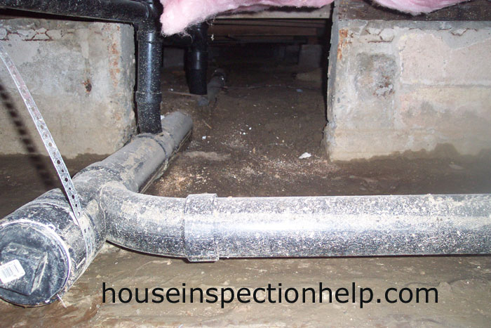 plumbing in crawl space