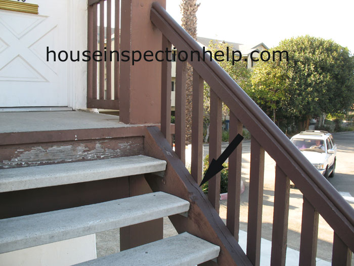 Crack In Wood Stair Stringer