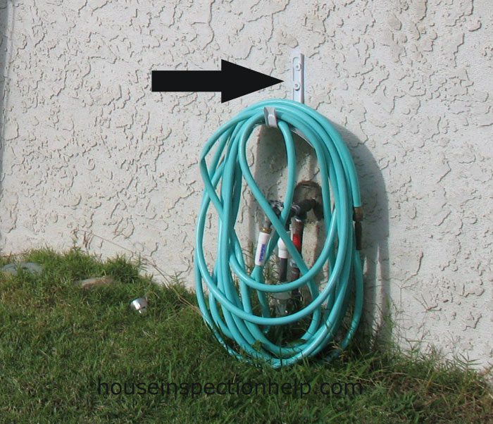 Hose Holder Attached To Stucco