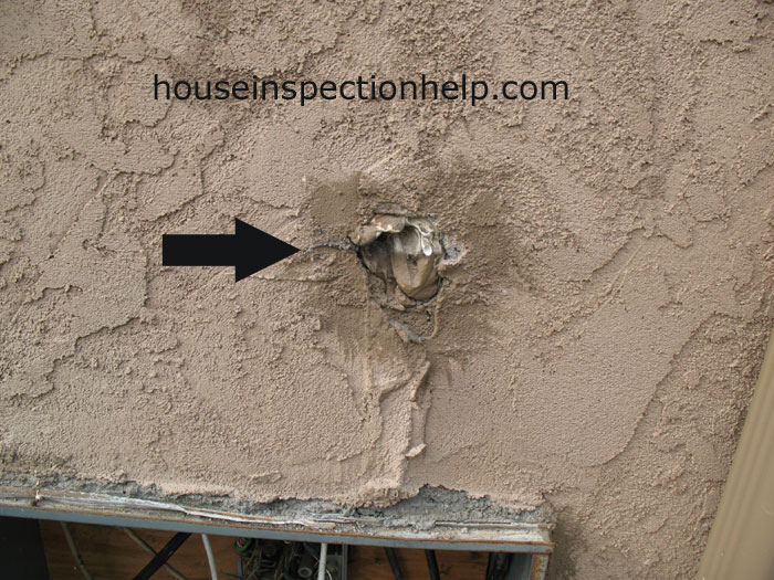 Stucco Filler Poor Repair