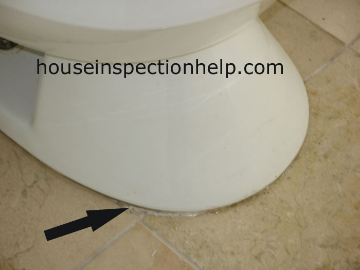 Toilet Base Silicone Caulking