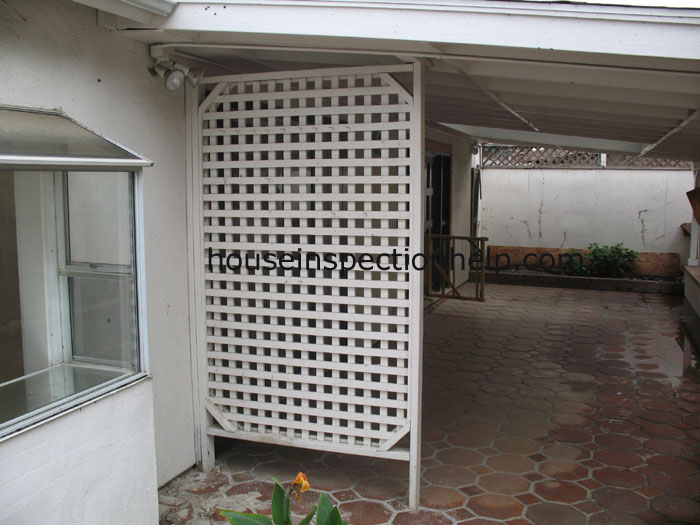Wood Lattice Privacy Wall