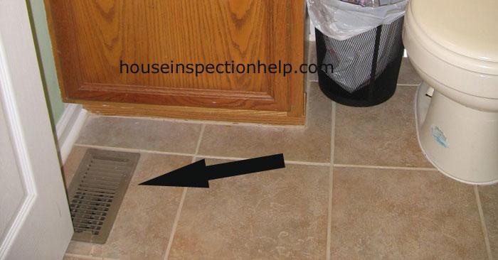 Bathroom Floor Heat Register