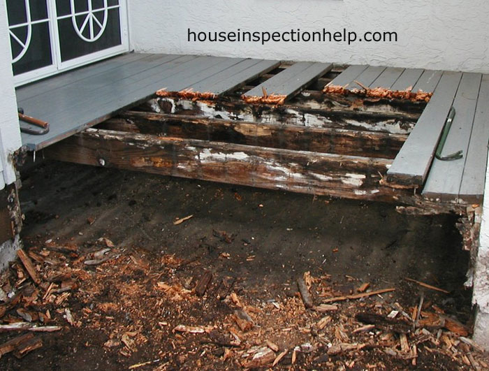 Dirt accumulation under decking for How to clean mud off concrete floor
