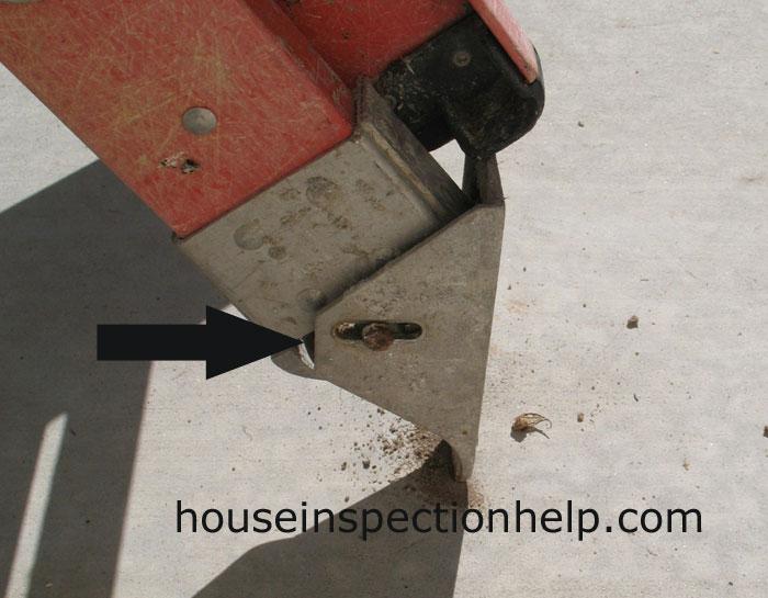 Ladder Binding At Base Close Up