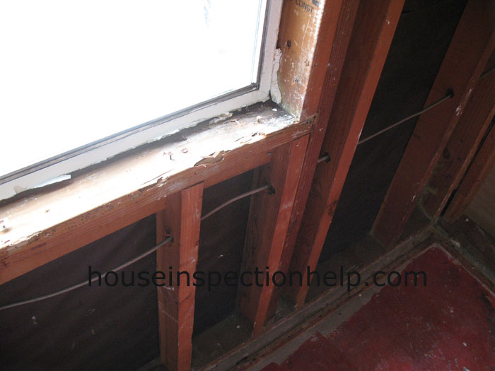 Old Window Sill Framing Damage
