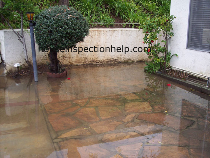 Patio drainage problem for Home drainage issues