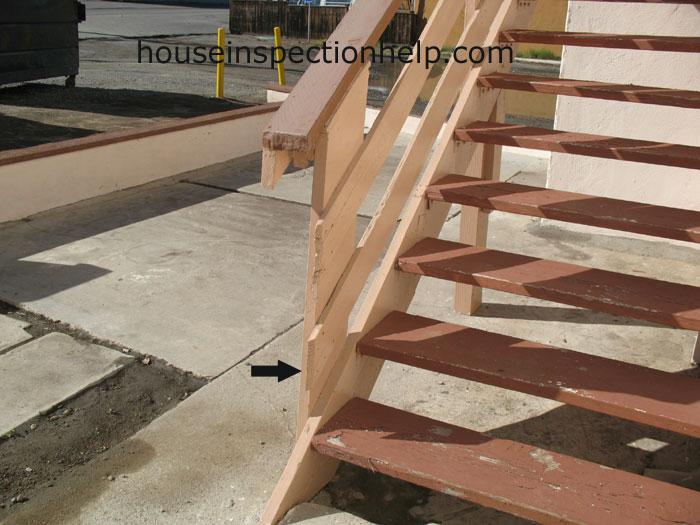 Sharp Stair Handrail Corner