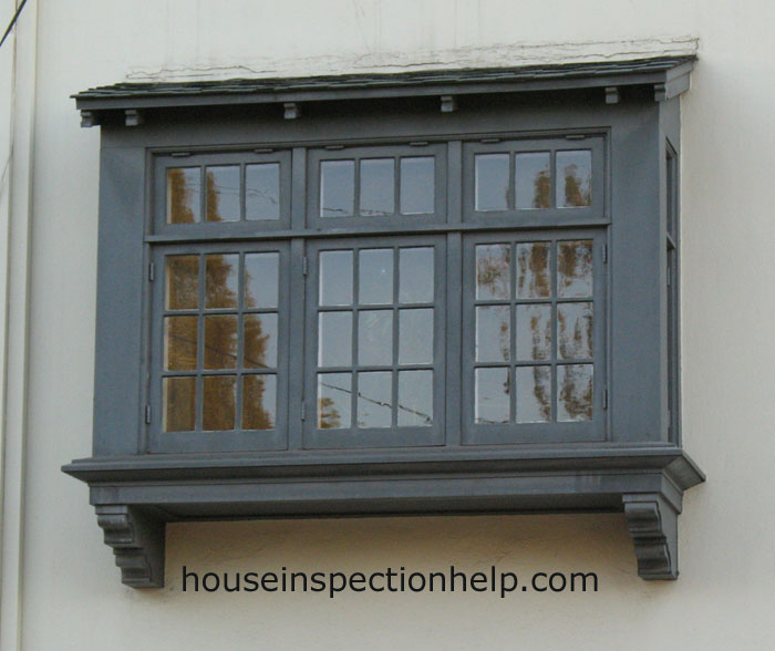 Square Bay Wood Window