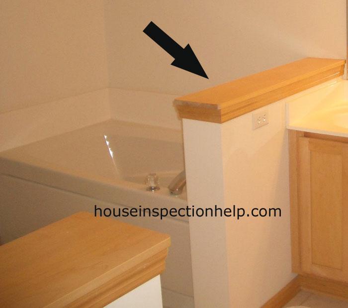 Wood Bathroom Wall Cap