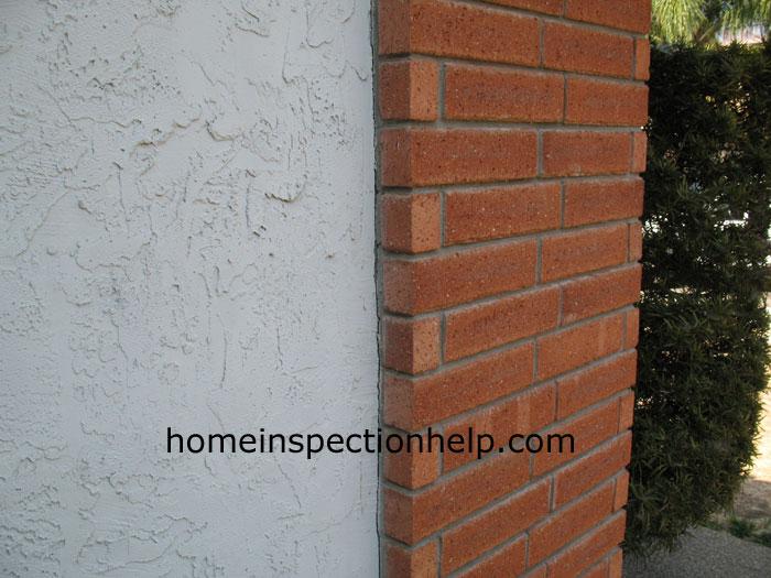 Brick And Stucco Wall