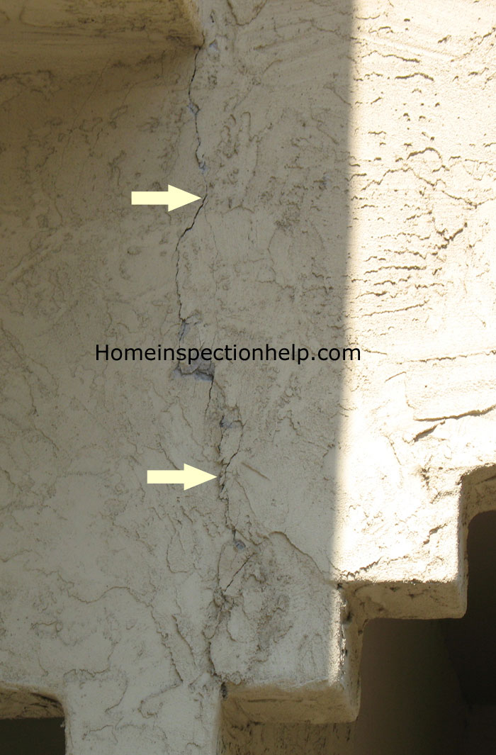 Large Stucco Crack