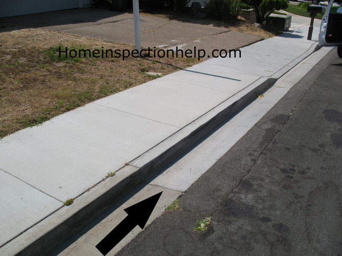 Repaired Curb And Sidewalk